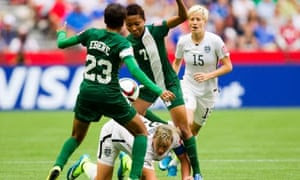 USA v Nigeria: keenly contested.