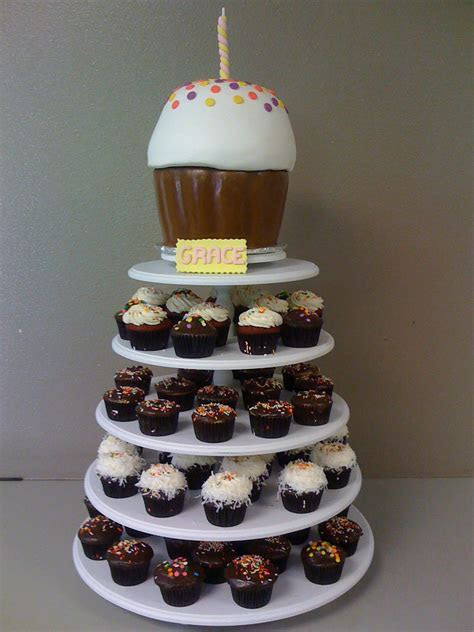 Big Cupcake Stand. BonNoces 5 Tiers Square Acrylic Large