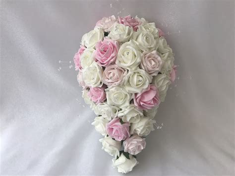 Create Your Own Bridal Teardrop Bouquet   BEAUTIFUL BOUQUETS