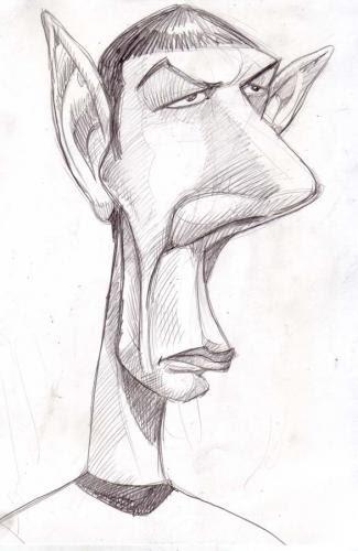 Mr Spock Star Trek Caricature
