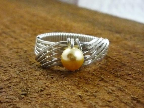 MADE TO ORDER Cream Swarovski Pearl Ring