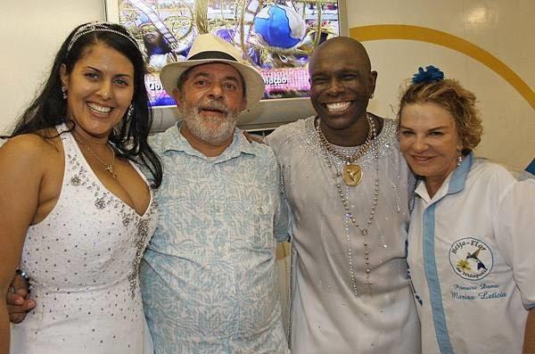 Elaine Reis, Lula, Neguinho da Beija-Flor e dona Marisa Letícia