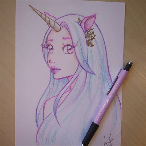 image result    draw  unicorn girl zeichnen