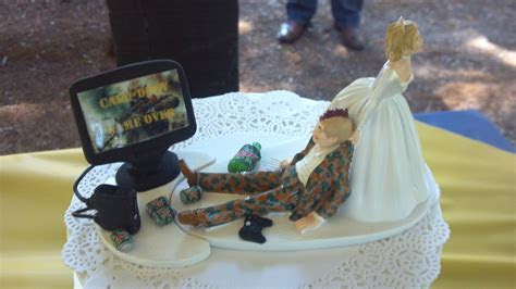 My dad made the top of my sister's wedding cake pretty