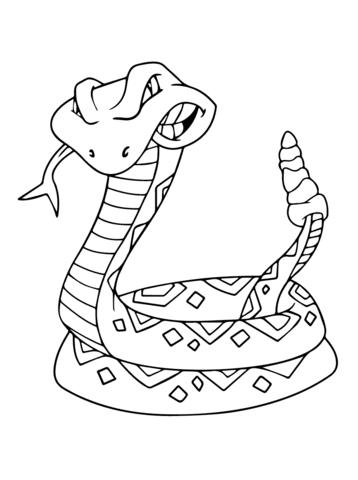 Disegno Di Serpente A Sonagli Da Colorare Disegni Da Colorare E