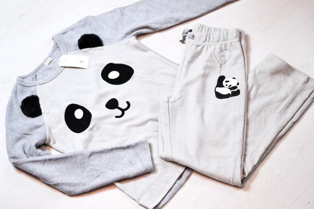 Panda pyjama, pajamas, oysho, inditex