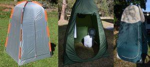 Barracas-Banheiro. Conforto do WC Pessoal no Camping