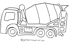 Sketsa Mobil Hitam Putih