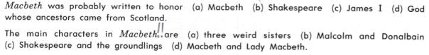 English 1135 Macbeth