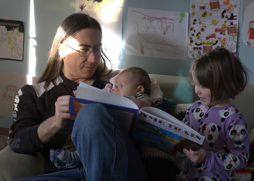 Moira reads to Davis