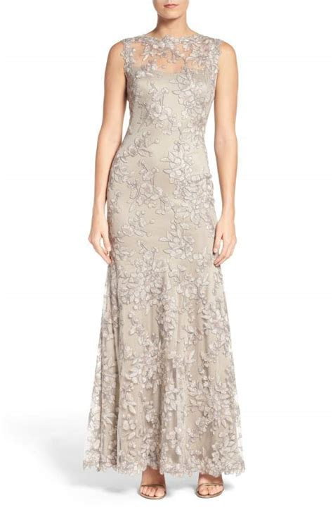 Silver Lace Gown   Silver Gray Lace Dress for a Wedding