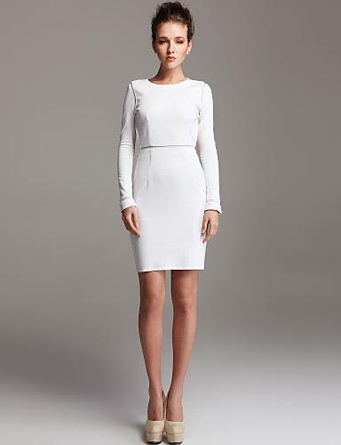 Size bodycon plus dress white long sleeve beach yakima