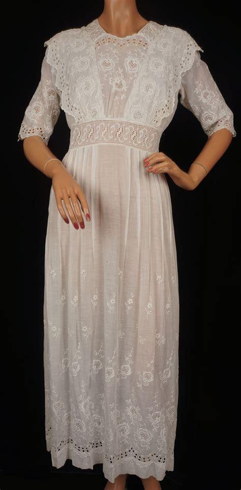 edwardian tea gowns antique edwardian white cotton tea