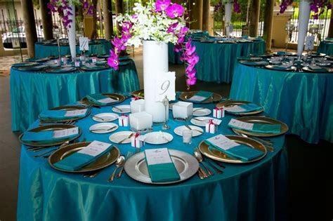 Teal Fuchsia wedding linen   Linens   Pinterest   Wedding