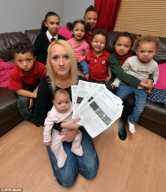 Fined: Marie Buchan, 31, from Selly Oak in Birmingham, claims £2,000 a month in benefits and has had a string of bus lane fines slashed because she says she can't afford to pay them