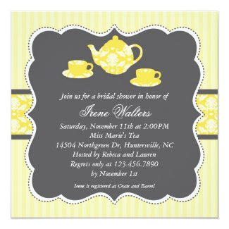 Tea Pot Bridal Shower Invitation
