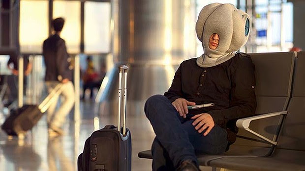 Cure for jet-lag? Meet the 'Ostrich Pillow'