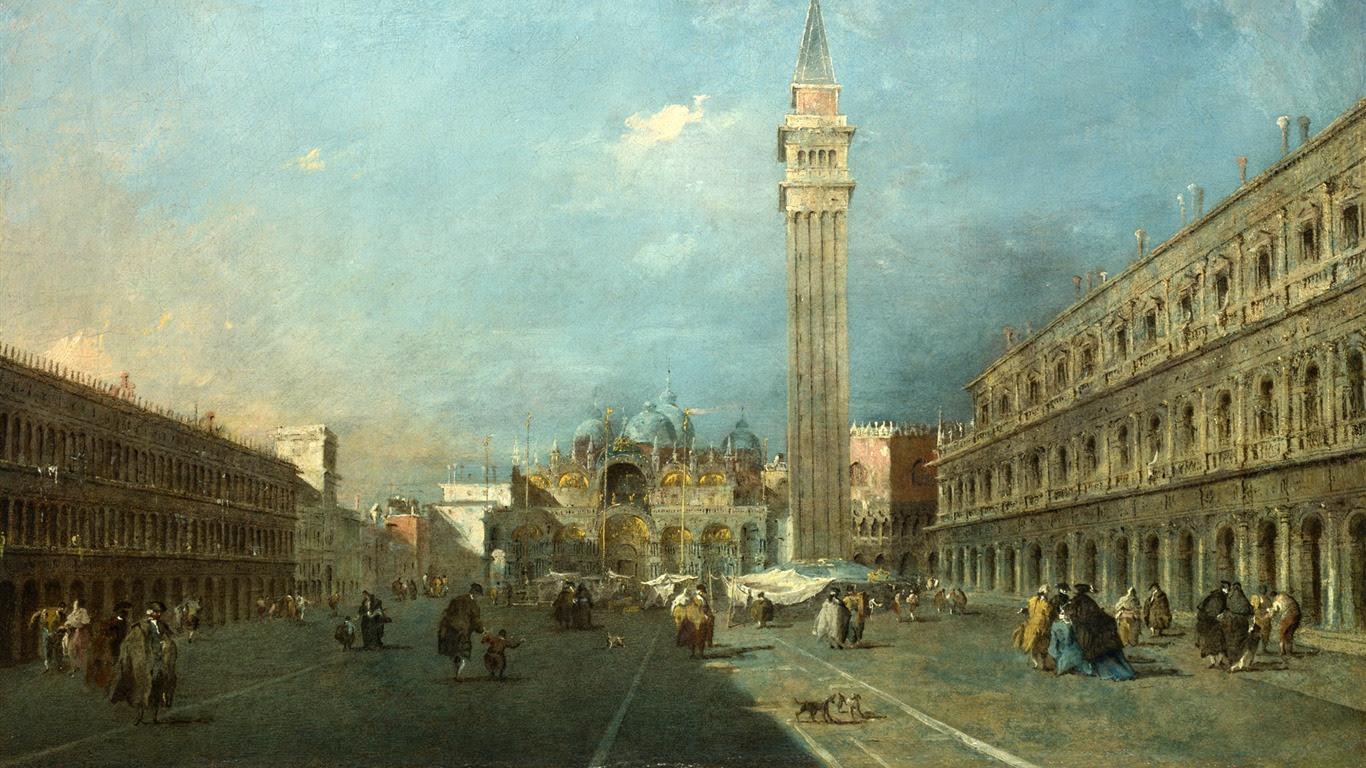 ロンドンのナショナルギャラリー壁紙 7 17 1366x768 壁紙