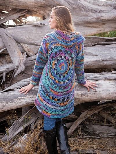 Craftdrawer Crafts Crochet A Lacy Leaf Cardigan Pattern