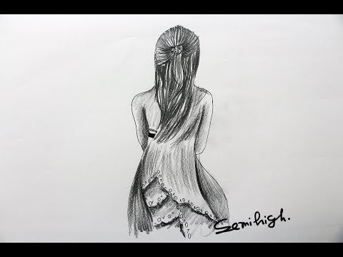 Pencil Sketch Girl Drawing Full Body Easy