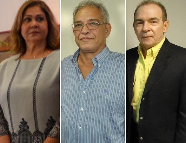 Procuradora geral do Estado do Maranhão, Helena Cavalcante Haickel, secretário de Planejamento, João Bernardo Bringel, e o ex-chefe da Casa Civil, João Abreu