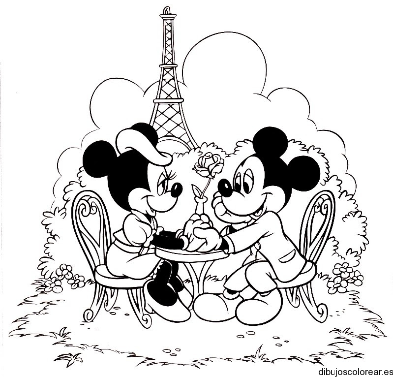 Dibujo De Minnie Mickey Mouse En Paris