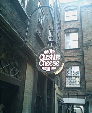 Ye Olde Cheshire Cheese entrance on Wine Offic...
