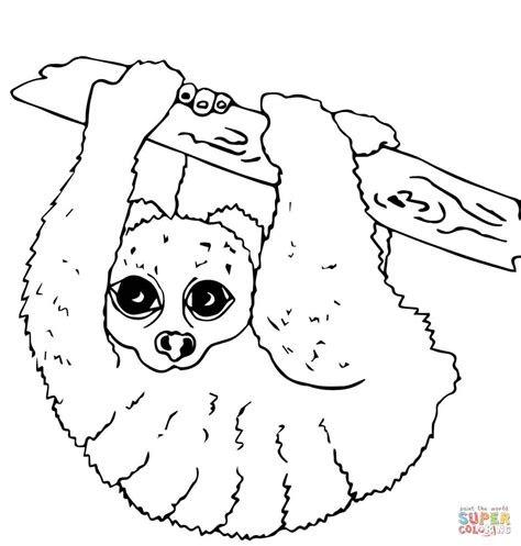 bush baby coloring pages