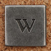 Pewter Lowercase Letter w