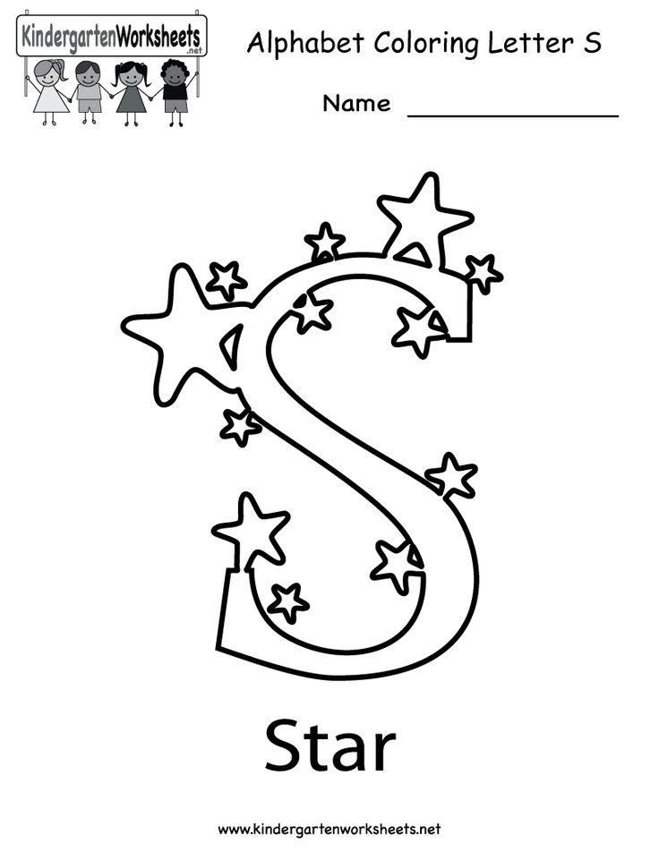 Kindergarten Letter S Coloring Worksheet Printable