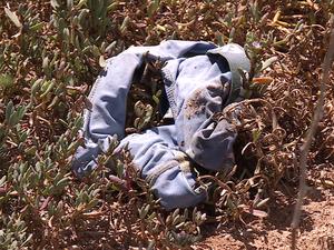 Vítimas foram encontradas amarradas com parte da roupa que vestiam (Foto: Reprodução/ TV Grande Rio)