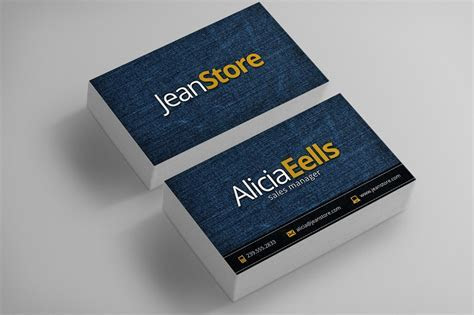 Denim Business Card ~ Business Card Templates ~ Creative