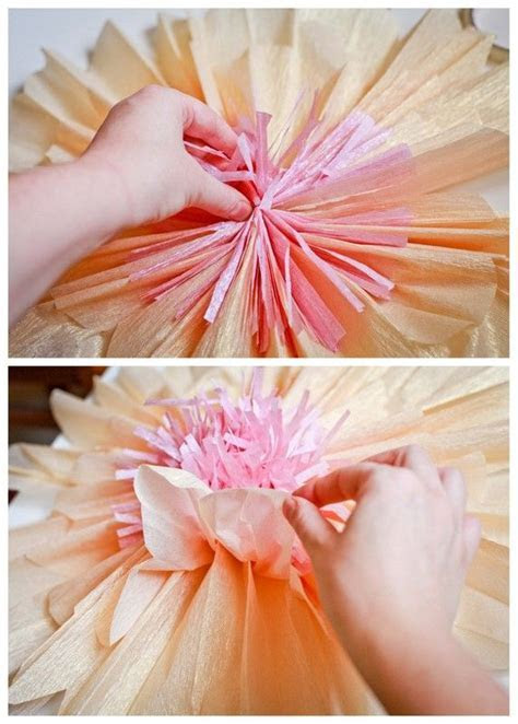 tutorial  how to make giant paper flowers for a wedding or