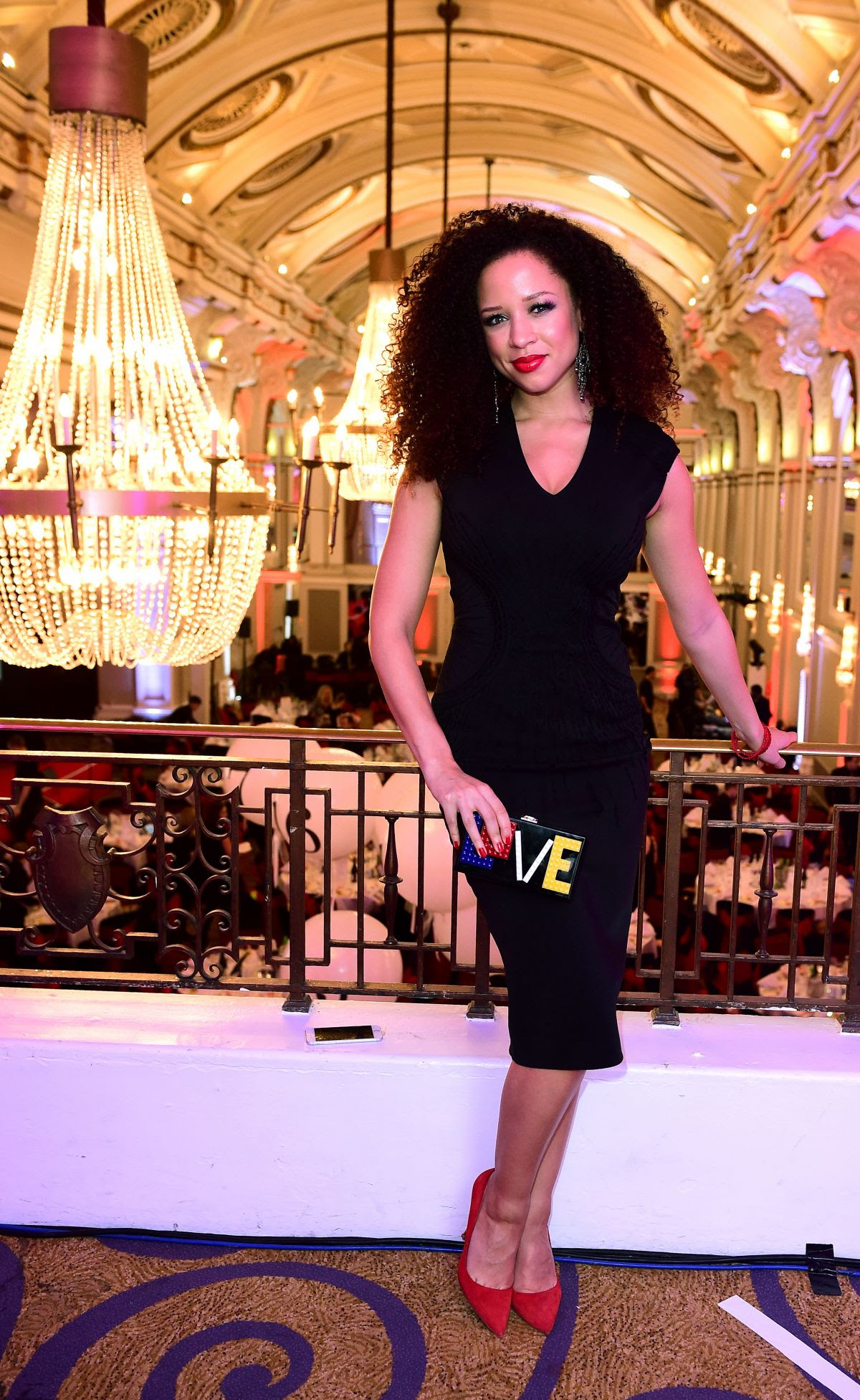 NATALIE GUMEDE at Winter Comedy Gala in Aid of Actionaid in London 11/17/201