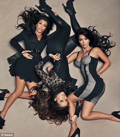 Money makers: From left Kourtney, Khloe and Kim Kardashian star in their own reality TV shows