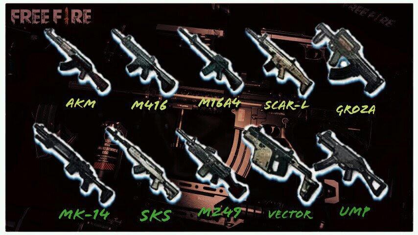 Melhores Armas Free Fire Battlegrounds