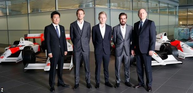 McLaren present their driver line-up for 2015