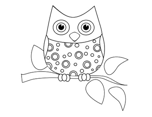 Printable Owl Coloring Pages For Kids Drawing With Crayons