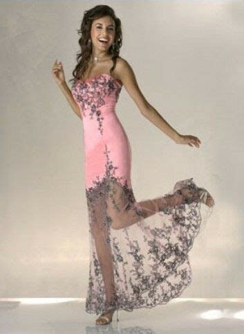 sexy pink satinblack lace embroidery bride dress prom