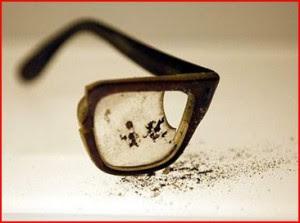 of Salvador Allende's eyeglasses. Museo Historico Nacional, Santiago, Chile