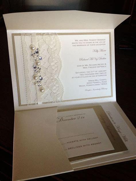 Sample Lace and Rhinestone Wedding Invite, Invitation