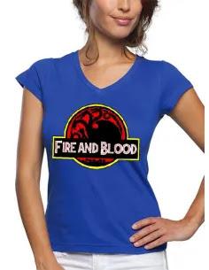 Camiseta Juego de Tronos Fire & Blood de mujer