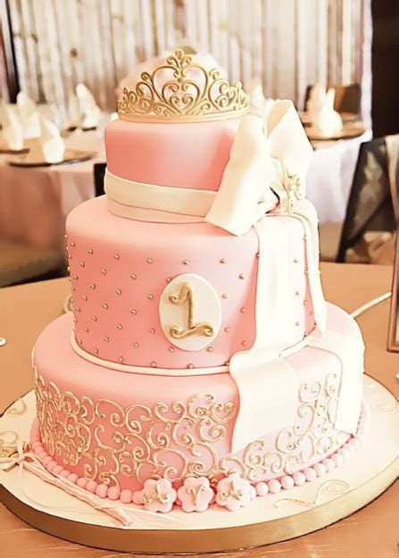 Pink and gold wedding cakes