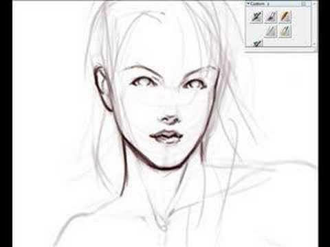 480x360 Digital speed sketching female figure