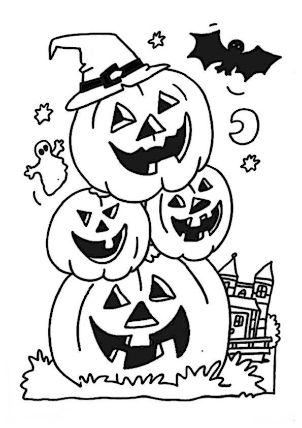 halloween malvorlagen kostenlos text  zeichnen und färben