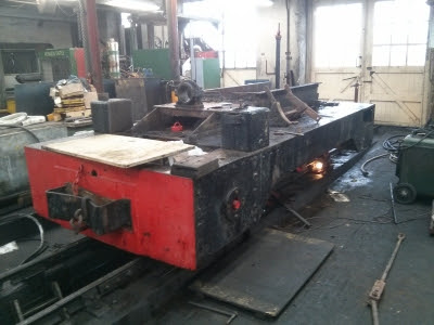 Chassis being dismantled at Boston Lodge 2/5/2015  - Andy Savage