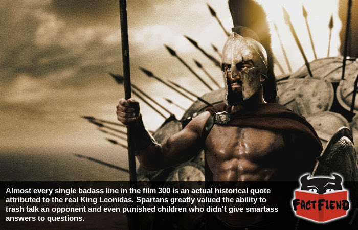 Most Of The Badass Lines From 300 Were Actual Spartan Quotes