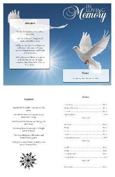 In loving memory Funeral program template to customize and