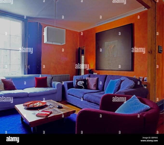 Cool Purple And Orange Living Room Ideas Photos