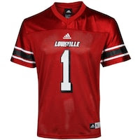 adidas Louisville Cardinals Youth Replica Football Jersey - Red